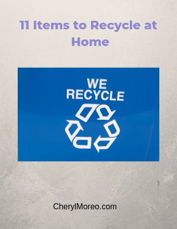 11 items to recycle at home