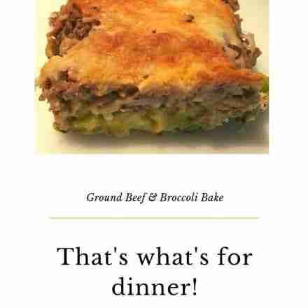 Ground Beef and Broccoli Bake Slice