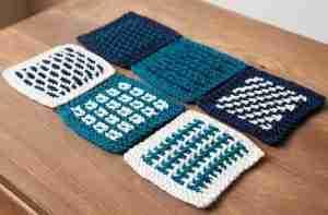 Knitted Slip Stitch Coasters