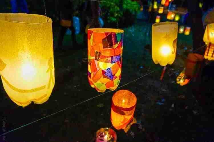 Lanterns from 2-liter bottles