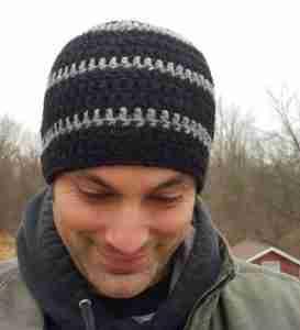 Man's crocheted Skull Cap