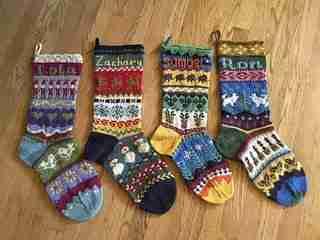 Charted Christmas Stockings