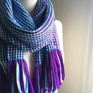 UV Striped Woven Scarf