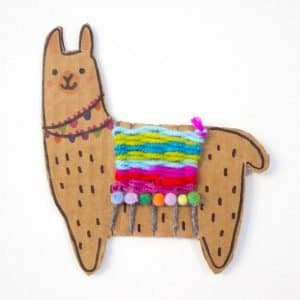 Cardboard woven llama