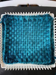 Potholder loom weaving