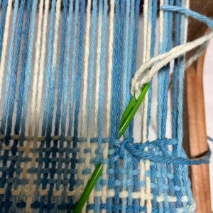 Step 1 at End of Weaving