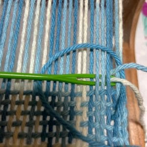 Step 3 Hemstitiching end of weaving