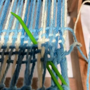 Step 5 at beginning of weaving