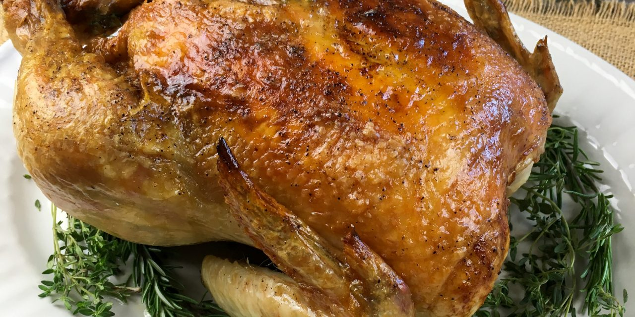 Roasted Chicken with Butter and Herb Rub