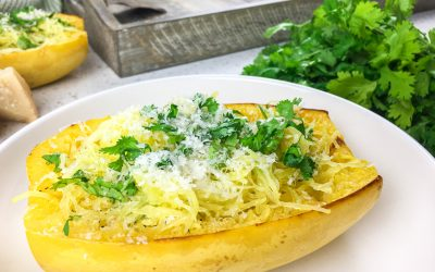 Delicious Roasted Spaghetti Squash with Parmesan and Parsley